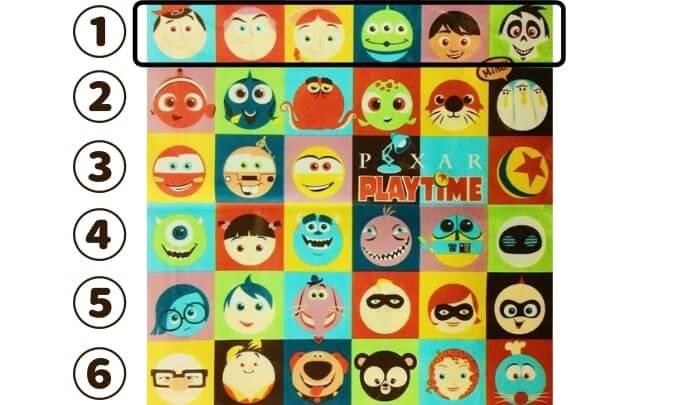 ピクサーキャラクターの名前当てクイズ・出題形式