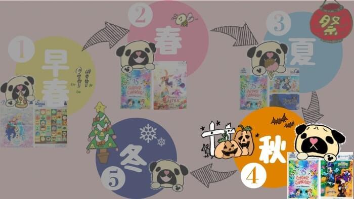 【2018年】お土産袋の隠れミッキー〈秋〉