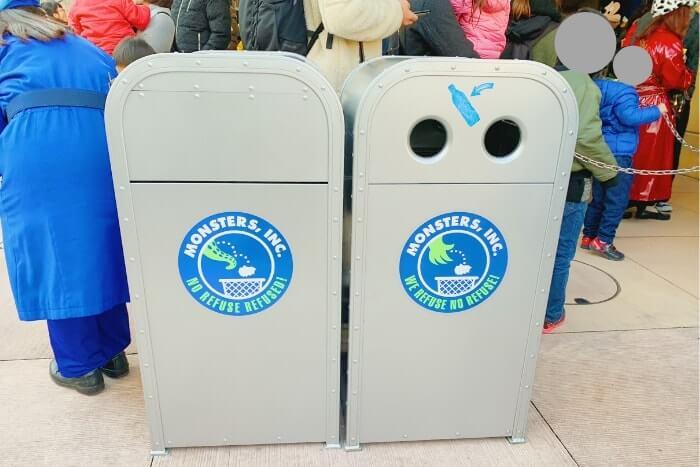 紋章などデザイン付きゴミ箱(トラッシュカン)種類③<ディズニーランド>
