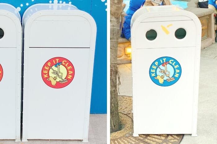 紋章などデザイン付きゴミ箱(トラッシュカン)種類④<ディズニーランド>