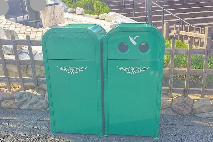 紋章などデザイン付きゴミ箱(トラッシュカン)種類①<ディズニーシー>