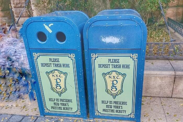 紋章などデザイン付きゴミ箱(トラッシュカン)種類③<ディズニーシー>