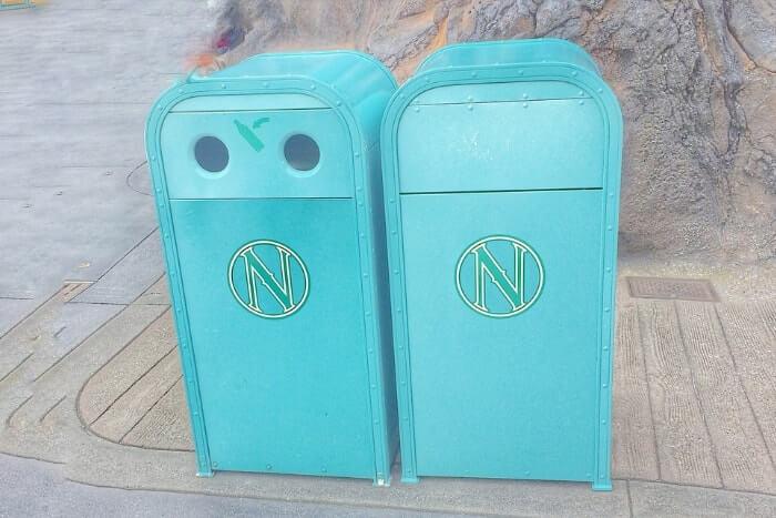 紋章などデザイン付きゴミ箱(トラッシュカン)種類④<ディズニーシー>