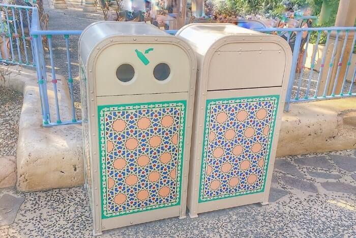 紋章などデザイン付きゴミ箱(トラッシュカン)種類⑦<ディズニーシー>
