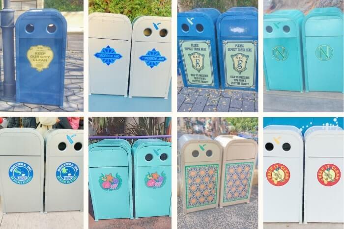 紋章などデザイン付きゴミ箱(トラッシュカン)一覧<ディズニーリゾート>
