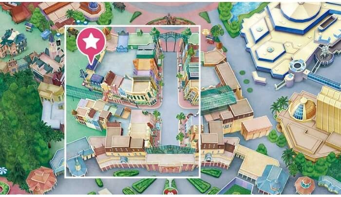 ミッキーワッフル販売店地図
