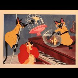 猫のディズニーキャラクター「サイ&アム」