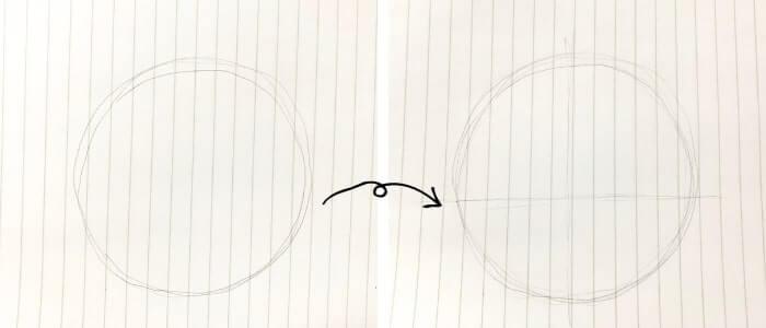 ミニーマウスのイラストの描き方1