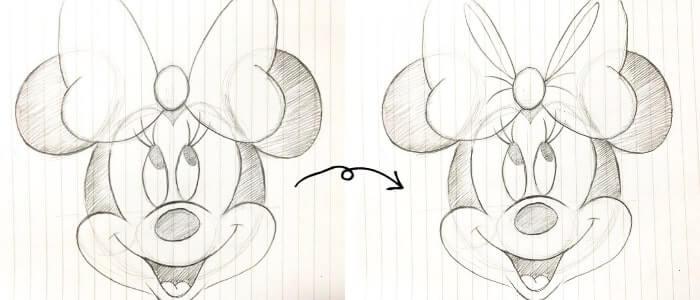 ミニーマウスのイラストの描き方9