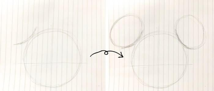 ミニーマウスのイラストの描き方2