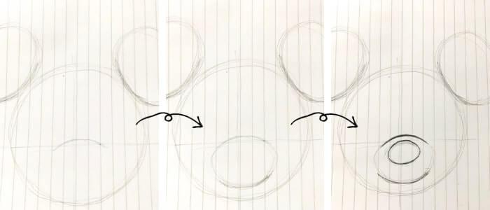 ミニーマウスのイラストの描き方3