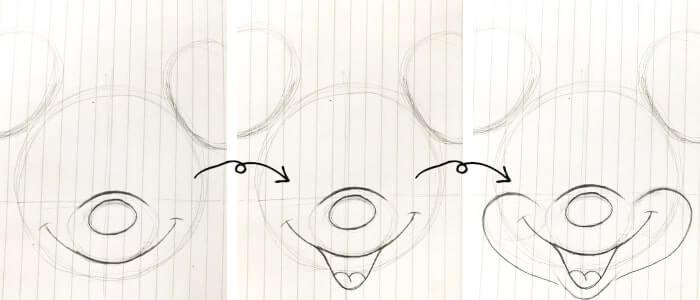 ミニーマウスのイラストの描き方4