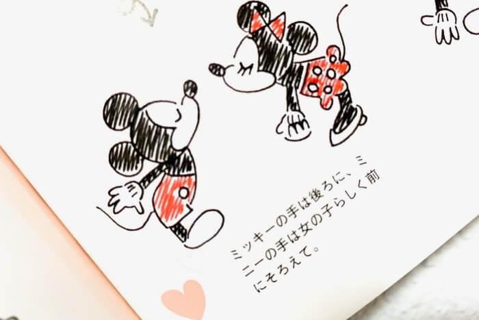 ディズニーキャラクターのイラスト描き方本:中身