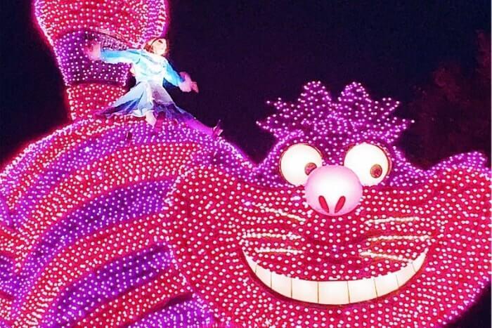 ディズニーキャラクターの猫「チェシャ猫」(エレクトリカルパレード)