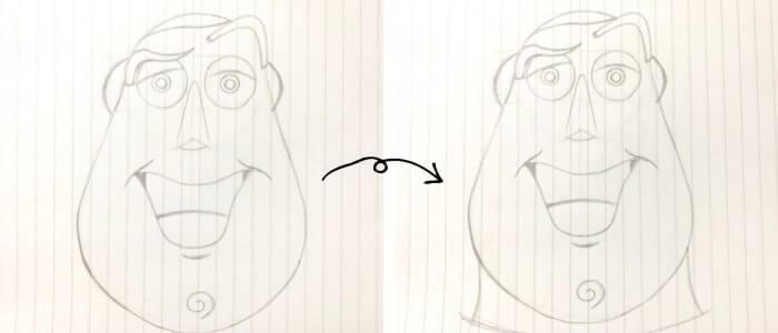 バズ・ライトイヤー(トイ・ストーリー)のイラストの描き方5