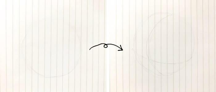 ドナルドダックのイラストの描き方1