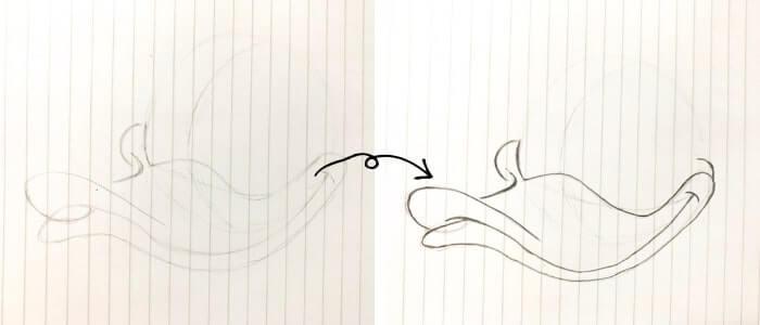 ドナルドダックのイラストの描き方3