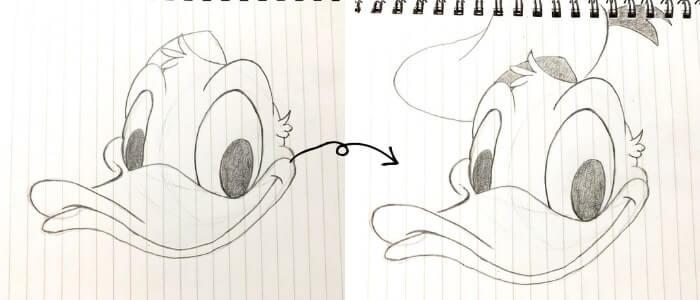ドナルドダックのイラストの描き方6