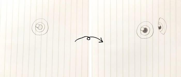 ドリー(ファインディング・ニモ)のイラストの描き方1