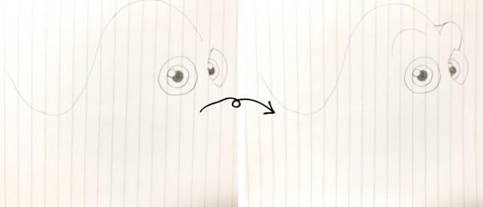 ドリー(ファインディング・ニモ)のイラストの描き方2