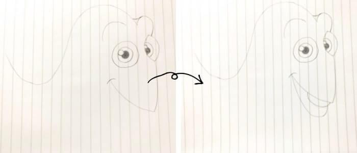 ドリー(ファインディング・ニモ)のイラストの描き方3
