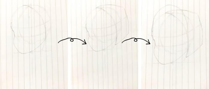 アナ(アナと雪の女王)のイラストの描き方3