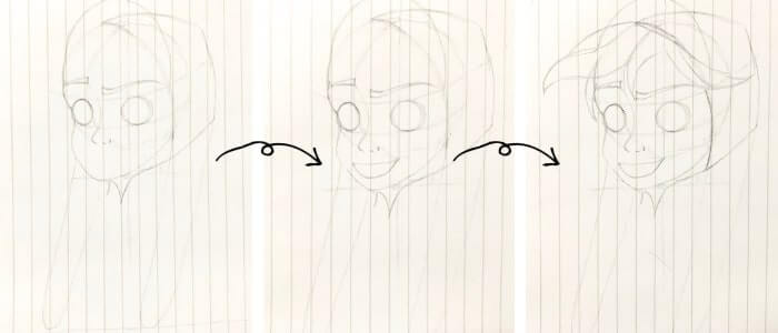 アナ(アナと雪の女王)のイラストの描き方5