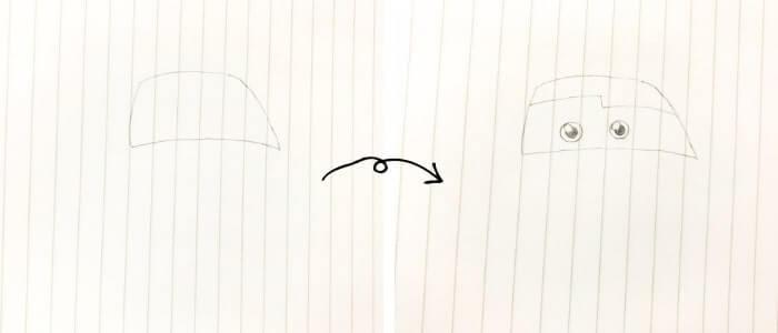 ライトニング・マックイーン(カーズ)のイラストの描き方1