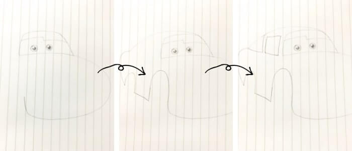 ライトニング・マックイーン(カーズ)のイラストの描き方2