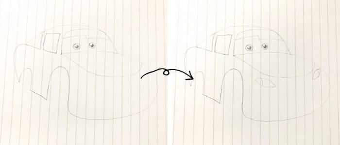ライトニング・マックイーン(カーズ)のイラストの描き方3