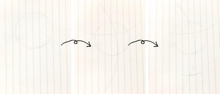 オラフのイラストの描き方1