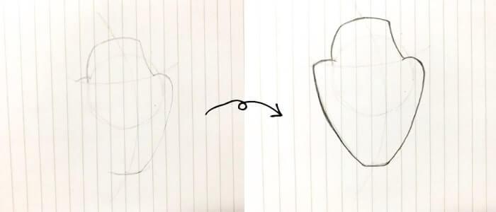 オラフのイラストの描き方2