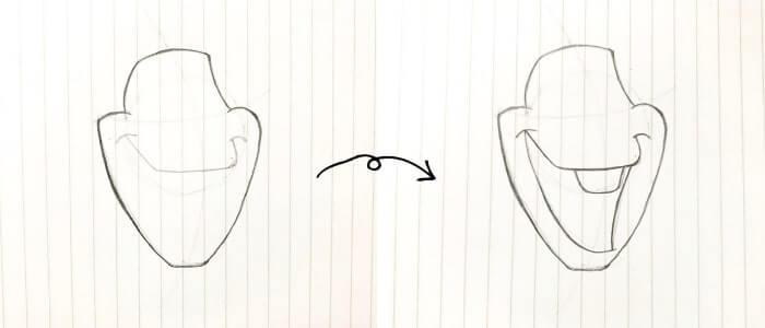 オラフのイラストの描き方3