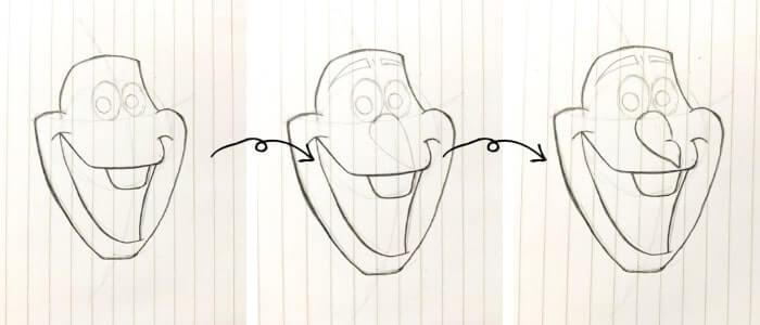 オラフのイラストの描き方4