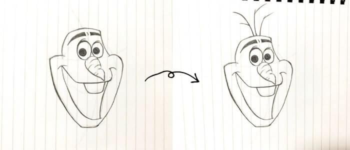 オラフのイラストの描き方5