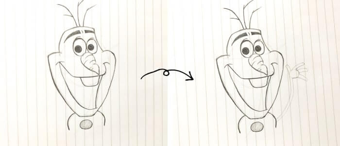 オラフのイラストの描き方6