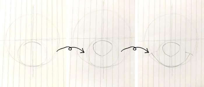 プーさんのイラストの描き方2