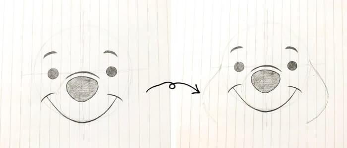 プーさんのイラストの描き方4