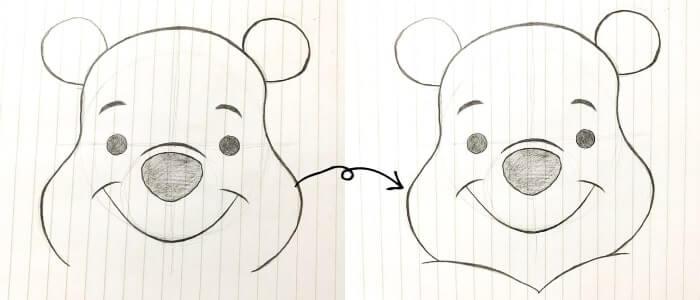 プーさんのイラストの描き方5
