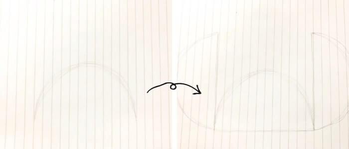 スティッチのイラストの描き方1