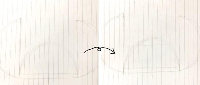 スティッチのイラストの描き方2