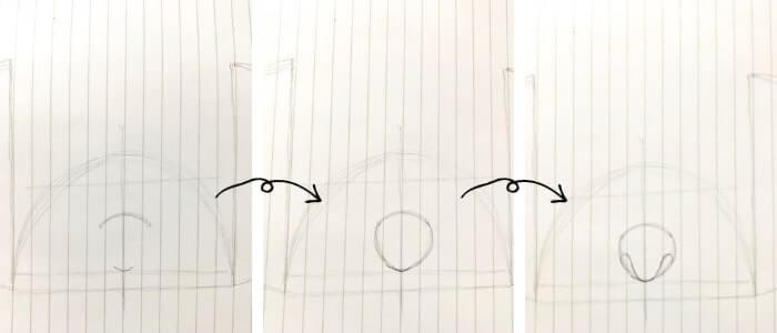 スティッチのイラストの描き方3