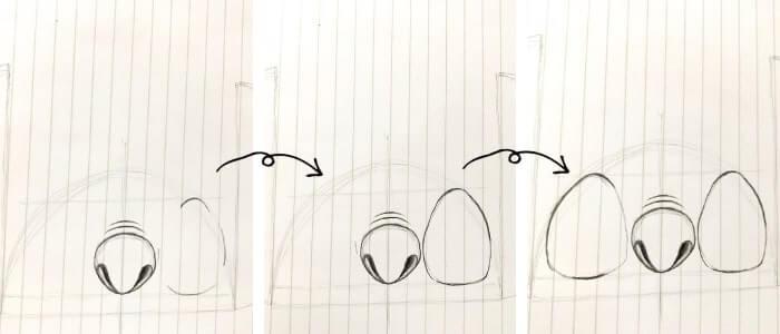 スティッチのイラストの描き方5