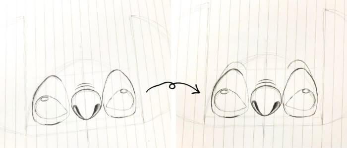 スティッチのイラストの描き方6