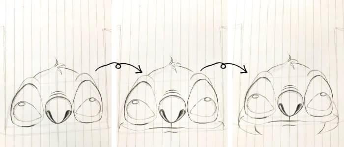スティッチのイラストの描き方7