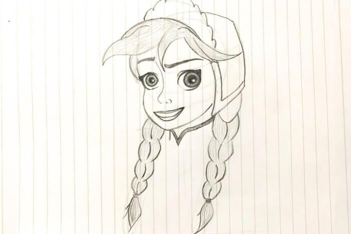 アナ(アナと雪の女王)のイラスト<完成図>