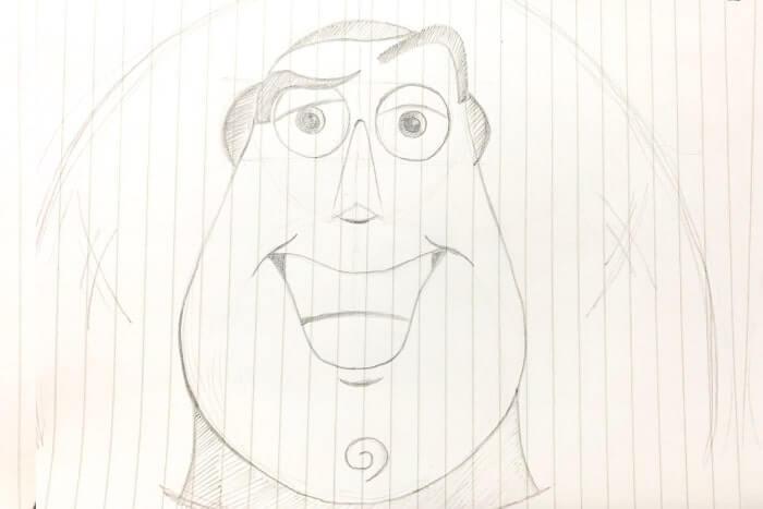 バズライトイヤーのイラストの描き方簡単動画でバズを描いてみた