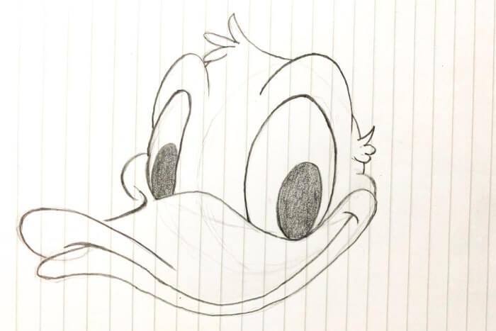 ドナルドダックのイラストの描き方5