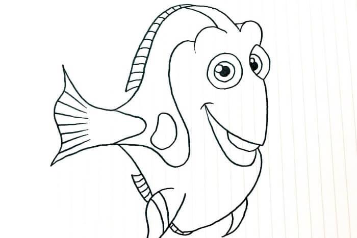 ドリー(ファインディング・ニモ)のイラスト<完成図2>