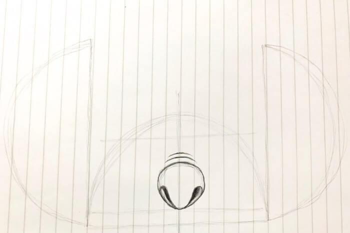 スティッチのイラストの描き方4